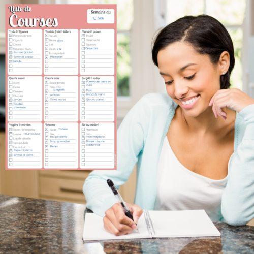 Bloc note liste de courses frigo magnétique aimanté calepin blocnotes
