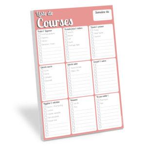 bloc note frigo WHINAT liste de courses pour organiser et planifier