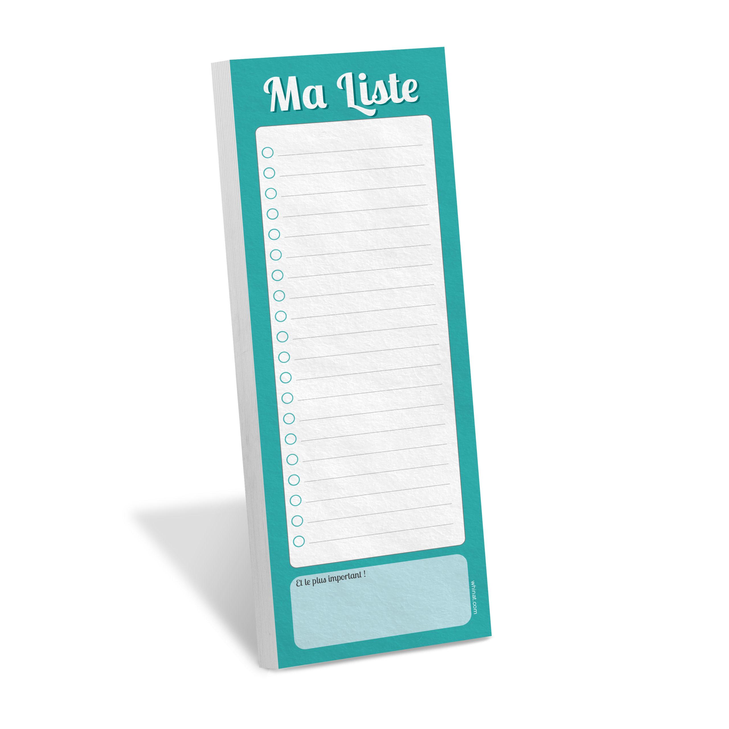 Bloc note frigo ma liste magnétique aimanté calepin liste de courses to do list todo liste