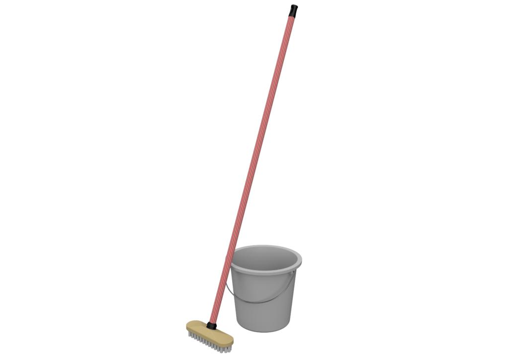 Planning des tâches ménagères -balai & saut de nettoyage des sols pour le ménage