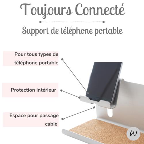 Organiseur telephone portable aluminum charge iphone usb support bureau organisateur rangement feutre stylo crayon pot