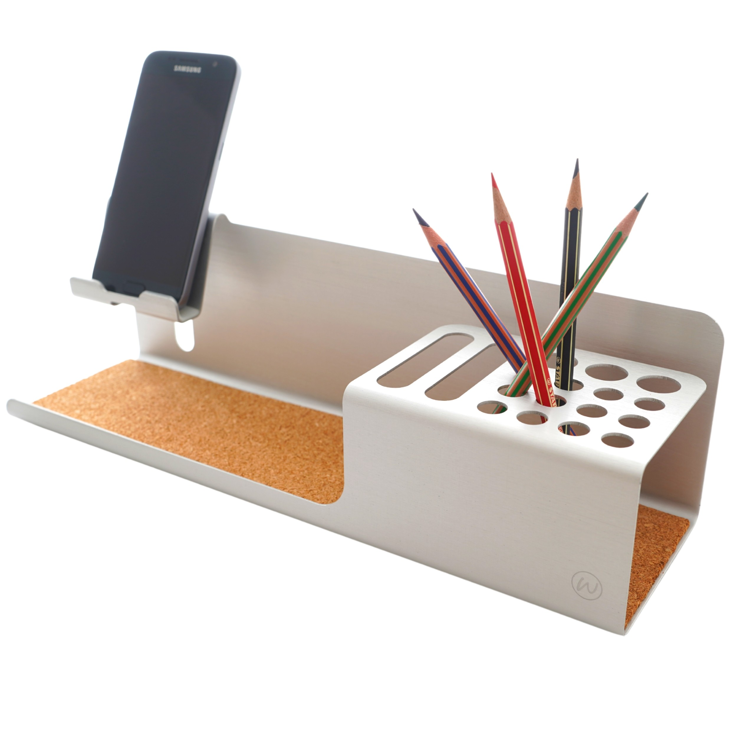 Organiseur telephone portable aluminum charge iphone usb support bureau organisateur rangement feutre stylo crayon samsung pot